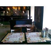 Реклама на столах в кафе фото