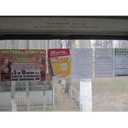 Размещение плакатов в троллейбусах фото