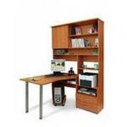 Компьютерный стол с выдвижными ящиками фото