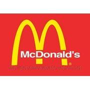 Реклама в сети McDonalds фото