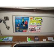 Реклама на скосах вагонов киевского метро фото