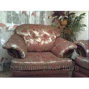 Обивка кресла новой тканью фото