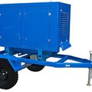 Трехфазный дизельный генератор АД-12С-Т400-1РМ13, 12кВт, под капотом на шасси фото