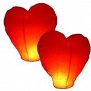 Летающие небесные фонарики Сердце, Большое сердце фото