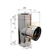 Сэндвич-тройник Феррум 90° ф115/200, AISI 439 Н+Н, 0,8мм/0,5мм, по воде фото