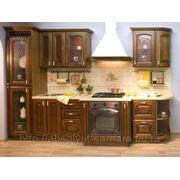 Кухня из натуральной древесины фото