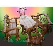 Мебель обеденная из корнепластики фото