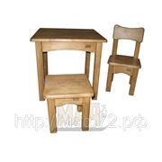 Комплект детской мебели деревянный светлый орех фото