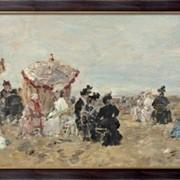 Картина На пляже, 1894, Будэн, Эжен фото