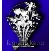Объёмная лазерная гравировка в стекле (кристалле) - Параллелепипед с «куполом» 75х75х120 фото