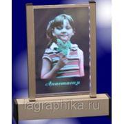 Цветное фото в стекле - лазерная гравировка фото