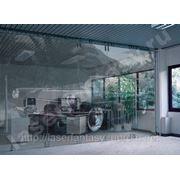 Лазерная гравировка на СТЕКЛЕ.Гравировка дверей, перегородок, панелей, фасадов,витрин. фото