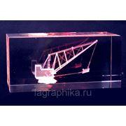 Лазерная графика в стекле в подарок фото