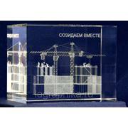 Объёмная лазерная гравировка в стекле (кристалле) - лазерная гравировка фото