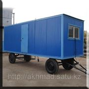 Жилой вагончик, передвижная бытовка на шасси 6*2,5*2,5м Алматы фото