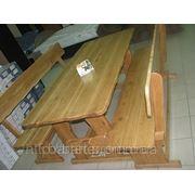 Изготовление деревянных лавочек и столов из бревна фото