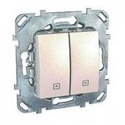 Unica беж. Выключатель для жалюзи нажимной MGU5.207.25ZD (упак. 10шт.) фото