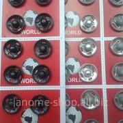 Кнопки пришивные металлические 2 1уп - 36шт фото