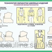 Плакат Технология обработки швейных изделий В.10 фото