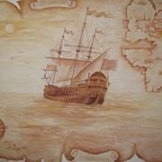 Художественная роспись стен, картины на заказ (пейзаж, портрет, цветы) фото