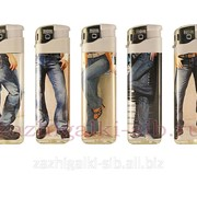 Пьезозажигалка Baide термопленка джинсы фото