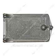 Дверца топочная чугунная размер (крючек) 22см х 22см №100906 фото