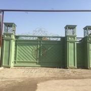 Ворота мкталические фото