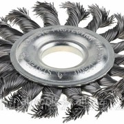 Щетка Stayer дисковая для УШМ, сплет в пучки стальн зак провол 0,5мм, 200мм/М14 Код:35192-200 фото