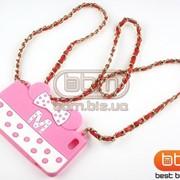 Накладка iPhone 5S MOSCHINO (Minnie Mouse) сумочка силикон розовый с белым 73058ar фото