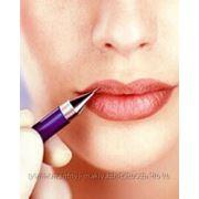 Татуаж губ растушеванный контур фото