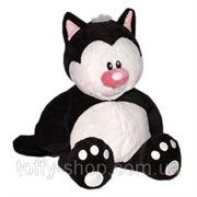 Кот Котя черно-белый 40см фото
