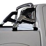 Дуга в кузов пикапа RIO 76 мм с логотипом полир. нерж. сталь под 3х.секционную крышку фото