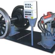Оборудование для вагонного хозяйства. Позиция для демонтажа букс с колесных пар локомотивов (буксосъемник) фото
