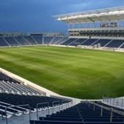 Строительство и обустройство стадионов, футбольных полей, спортивных залов, спортивных площадок, баскетбольных площадок фото