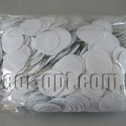 Фетровые заготовки-круги белые 0,5мм/4 см 1000 шт 0056 фото