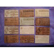 Визитки из дерева, цены на визитки фото