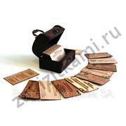 Деревянные визитки фото