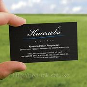 Разработка и печать визитных карточек в Усть-Каменогорске фото