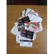 Печать визиток на льне, коже, на фактурной бумаге фото