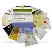 Изготовление рекламных визиток фото