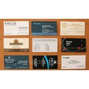 Визитки на дизайнерской бумаге фото