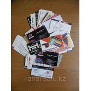 Печать визиток на льне фото