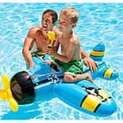 Игрушка для катания верхом Самолетик с водным пистолетом, Intex 57537, 132*130см фото