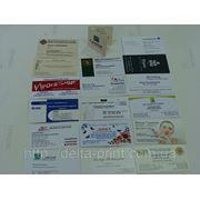 Визитки на мелованной бумаге 300г/м2 (4+1) фото