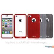 Чехол-крышка Apple iPhone 4/4s Luxa2 Alum-X алюминевый, с отверстием для логотипа фото