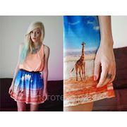 Сублимация и пошив короткого платья фото
