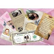 Свадебные пригласительные, календари, плакаты, лотерейные билеты и.т.д. фото