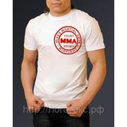 Печать логотипа на футболках фото