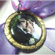 Медаль с заливным вкладышем фото