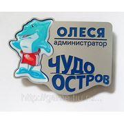 Бейдж гравированный с заливным логотипом фото